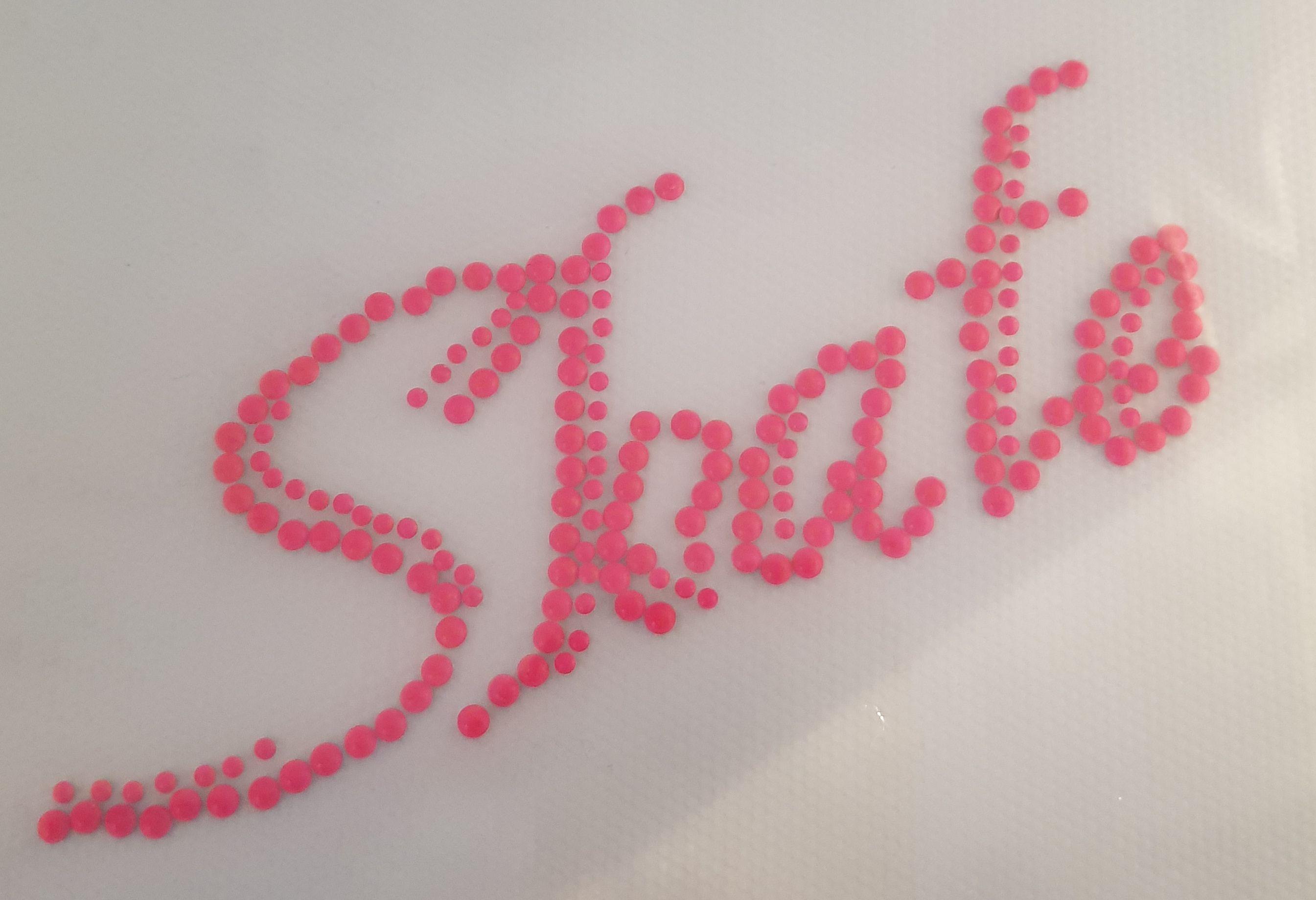 Strijkapplicatie Skate neon Pink