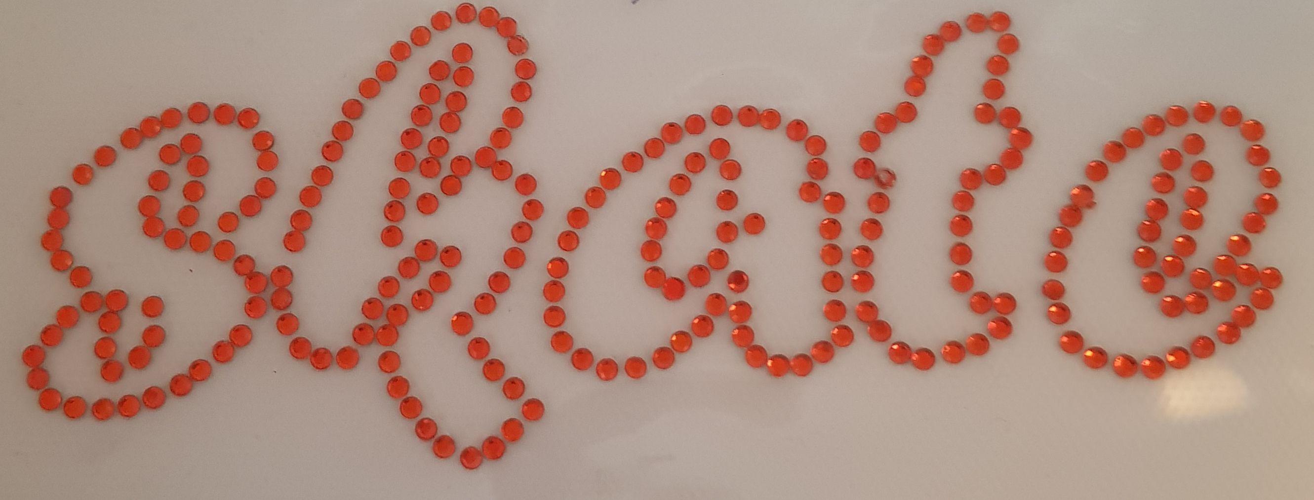 Strijkapplicatie SKATE donker oranje
