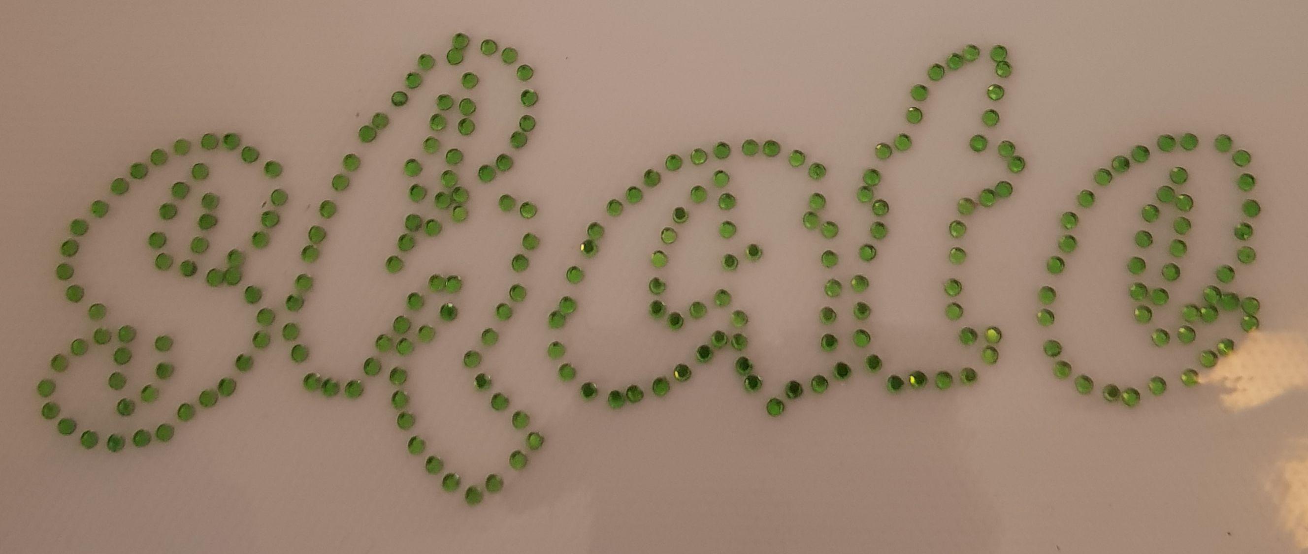 Strijkapplicate SKATE groen