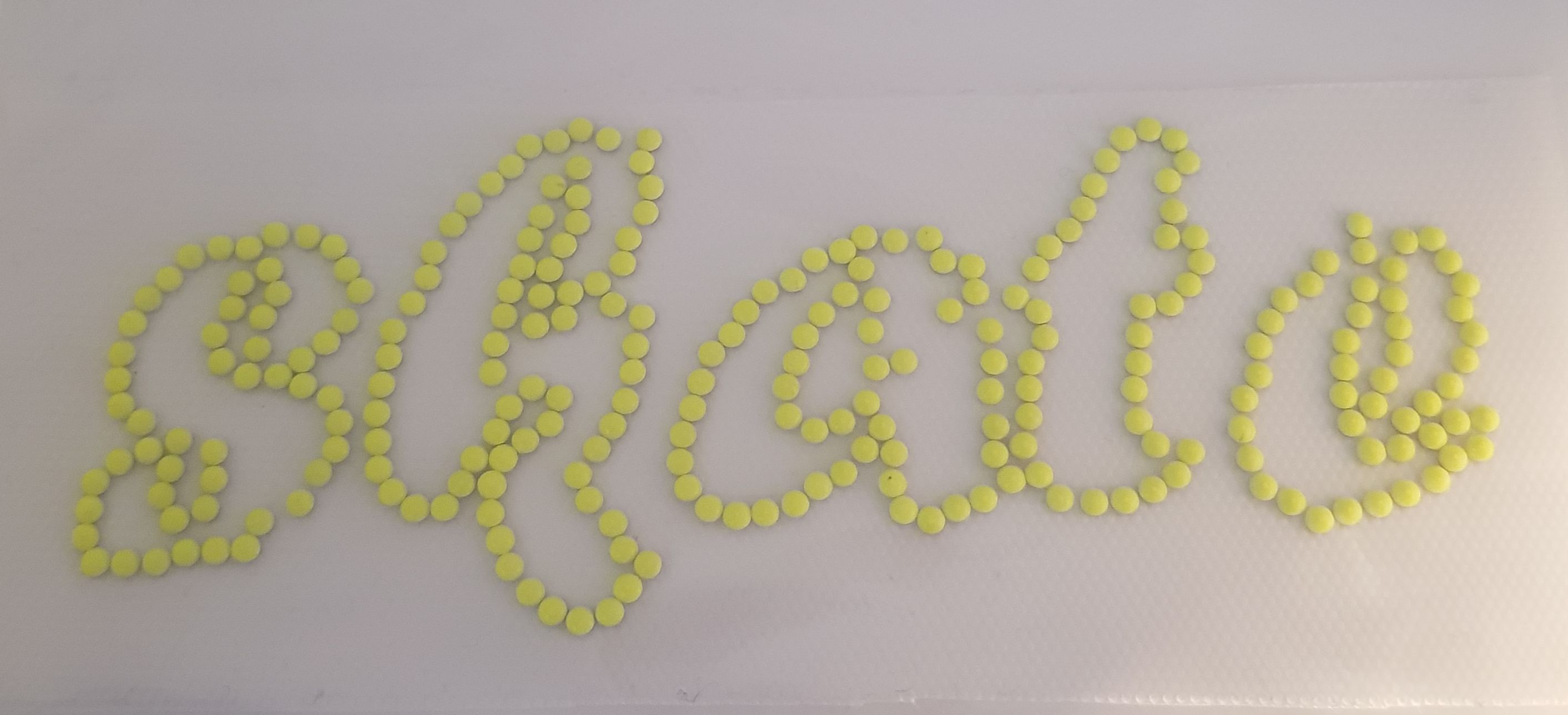 Strijkapplicatie Skate neon Yellow