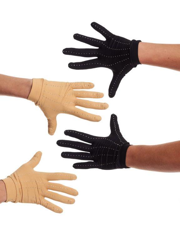 JiV G2R skin color competitie handschoenen met crystals