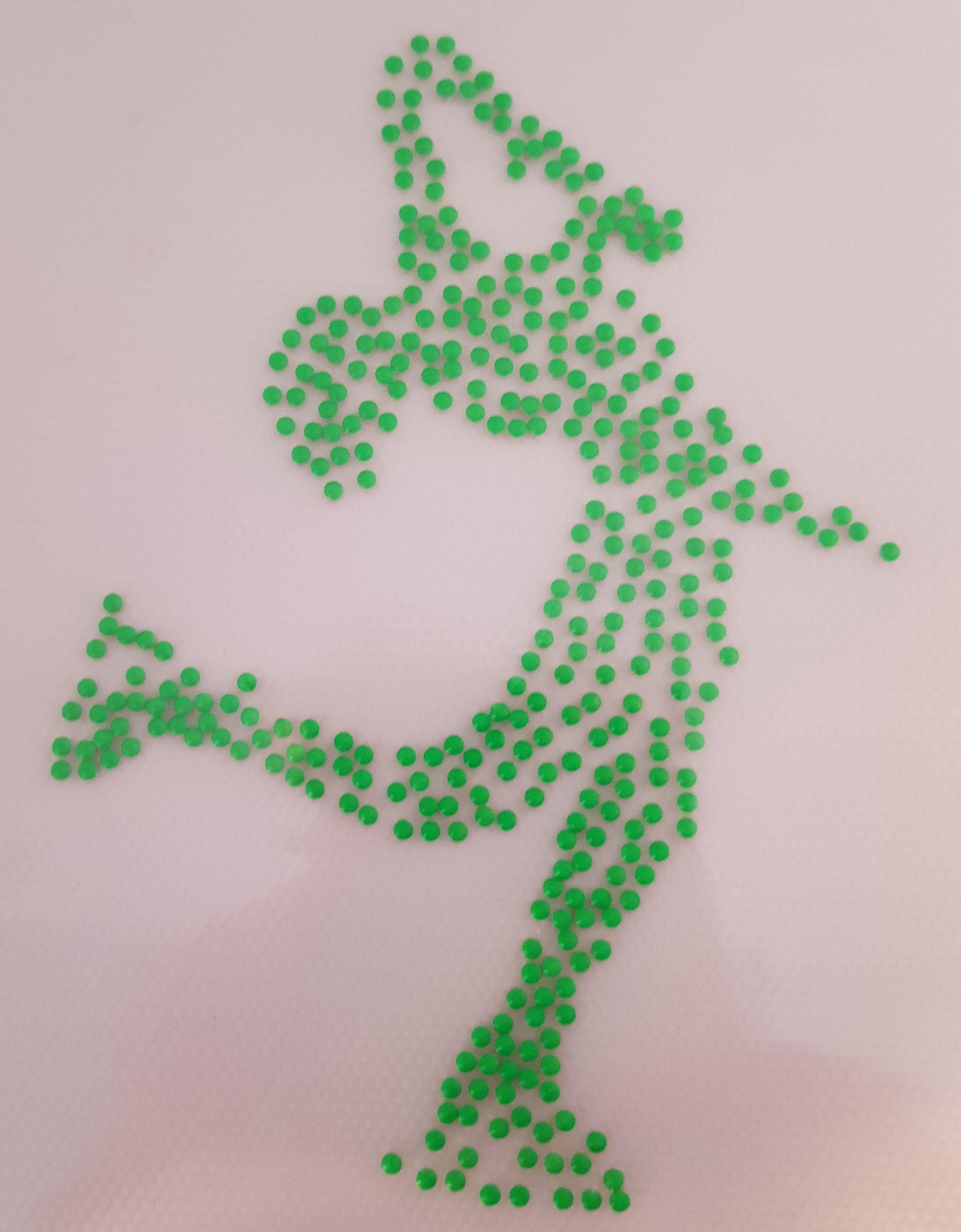 Strijkapplicatie Layback groen