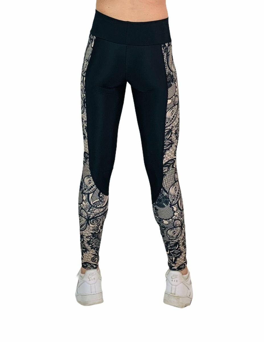 Black Onyx Nude Lace legging