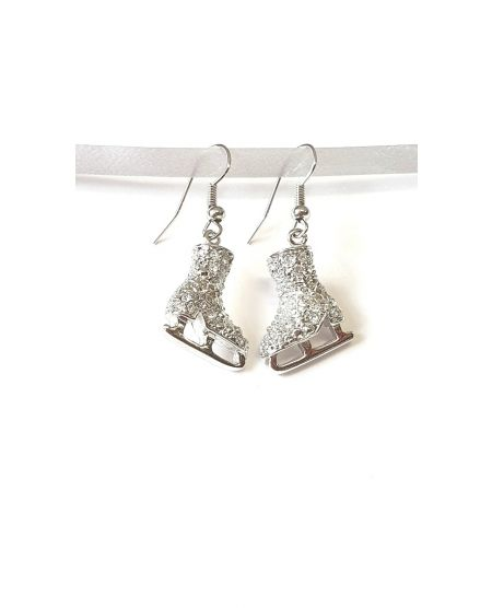 Jerry's Crystal skate earrings Clear