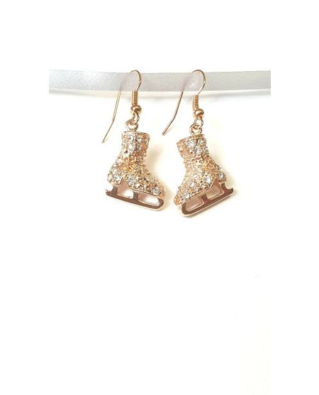 Jerry's Crystal skate earrings Rosé Gold