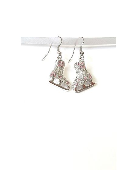 Jerry's crystal skate earrings pink