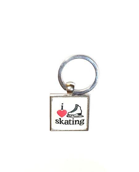 Sleutelhanger love ice skating