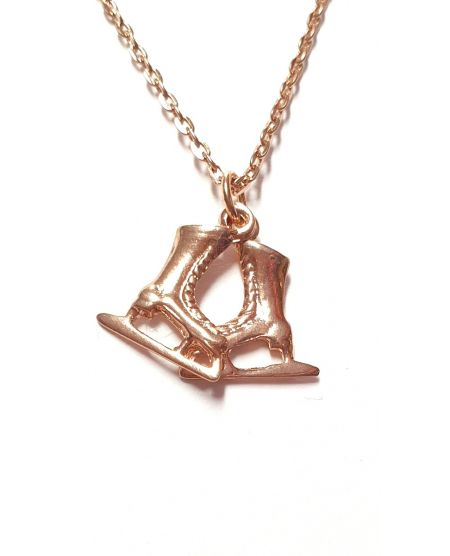 Ketting iceskates Rosé Gold color