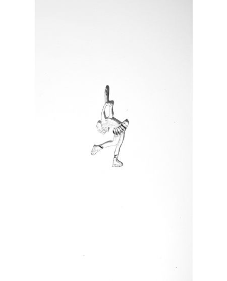 Sterling silver figure skating hanger