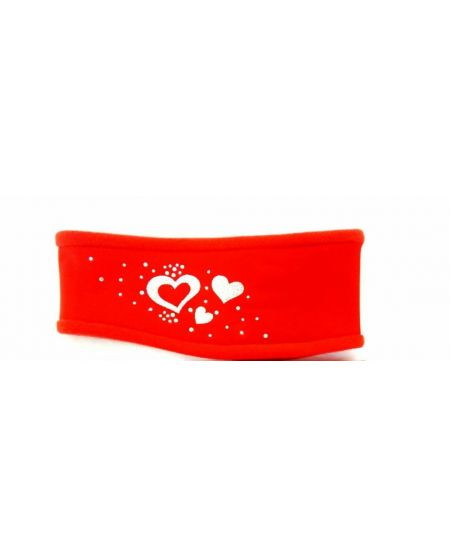 Hoofdband Hearts Red