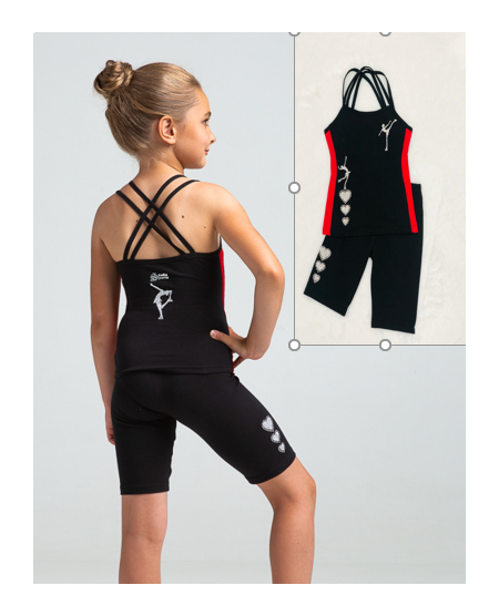 Studiosports set Iris black-red