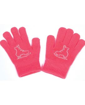 Crystal skate gloves pink