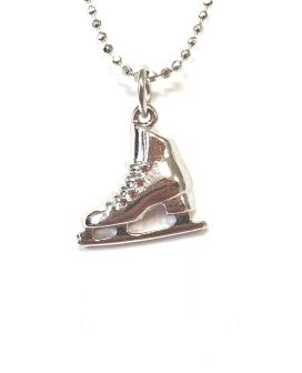 Kunstschaats ketting silver plated