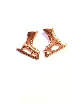 Skate earrings Rosé Gold