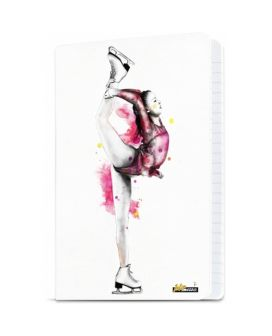 Intermezzo 7673 Ice Skating Biellmann A4 Notebook