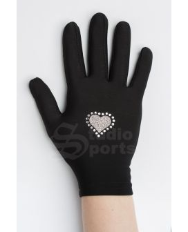 .Thermo gloves Hearts black