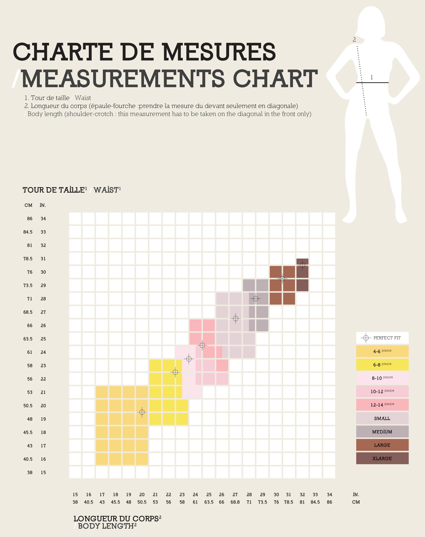 Size chart EliteXpression